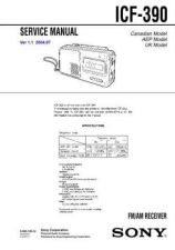 Buy Sony ICF-390 Service Information by download Mauritron #237855