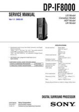 Buy Sony DP-IF8000... Service Information by download Mauritron #237750