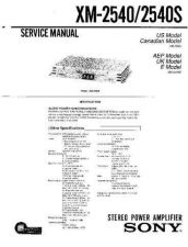 Buy Sony XM-2540-2540S Service Manual. by download Mauritron #245972