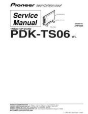 Buy Pioneer PDK-TS06 WL Service Manual by download Mauritron #234702