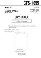 Buy Sony CFS-1055 Service Information by download Mauritron #237667