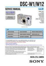 Buy Sony DSC-W1W12 Service Manual by download Mauritron #240384