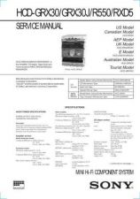 Buy Sony HCD-GRX30GRX30JR550RXD5 Manual by download Mauritron #229143