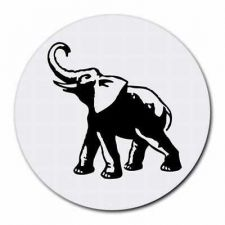 Buy Lucky Elephant Round Computer Mouse Pad