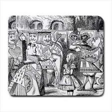Buy Queen Of Hearts Computer Mouse Pad Alice In Wonderland Off With Her Head