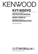 Buy Kenwood KVT-925DVD Operating Guide by download Mauritron #222920