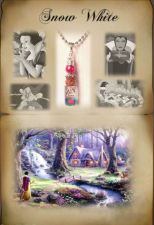 Buy Personalized Disney Snow White Themed Gift Name On Rice Necklace,Cell Charm