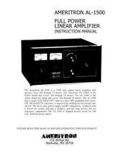 Buy AMERITRON AL1500 INSTRUCTIONS by download #117144