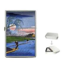 Buy Ando Hiroshige Men Fishing Japanese Art Cigarette Flip Top Lighter