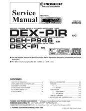 Buy Pioneer DEX-P1R-1 Service Manual by download Mauritron #233929
