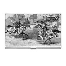 Buy Jousting Knights Vintage Style Business Credit Card Holder