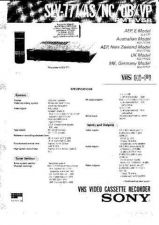 Buy SONY SLV-ED8ME Technical Info by download #105186
