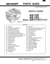 Buy Sharp AR151-156-F152 Service Manual by download Mauritron #208059