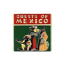 Buy Guests Of Mexico Retro Travel Art Vinyl Magnet