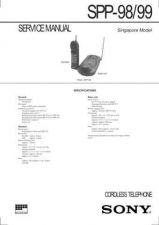 Buy SONY SPP-ID910 Technical Info by download #105223