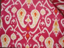 Buy 5 yards natural Indian Hand Made pure cotton fabric iket fabrics printed fabric