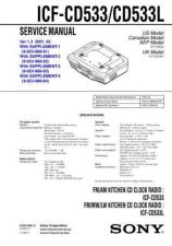Buy Sony ICF-CD533CD533L Service Manual. by download Mauritron #241579