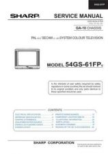 Buy Sharp 54GS61FP-FPS (1) Service Manual by download Mauritron #207846