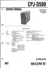 Buy Sony CPJ-D500 Manual-1663 by download Mauritron #228412