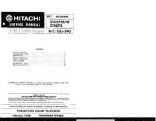 Buy Hitachi CT5081KP2 Service Manual by download Mauritron #261556