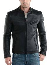 Buy New Men Lambskin Leather Jacket Male Motorcycle Biker Coat Size XS S M L XL K748