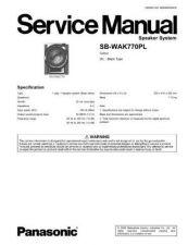 Buy Panasonic SB-WAK770PL by download Mauritron #268778