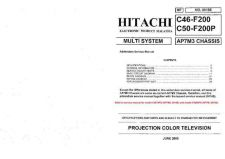 Buy Hitachi C46-F200 Service Manual by download Mauritron #263464
