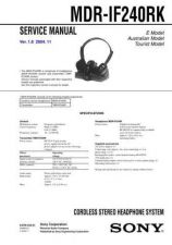Buy Sony MDR-IF240RK Service Manual. by download Mauritron #242580