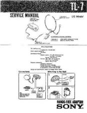 Buy Sony TL-7 Service Information by download Mauritron #238243