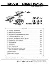 Buy Sharp SF-2118 Service Manual by download Mauritron #231450