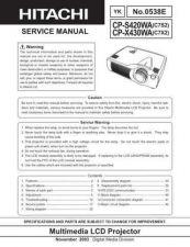 Buy Hitachi CP-S335_X340_X345_3 Service Manual by download Mauritron #260922