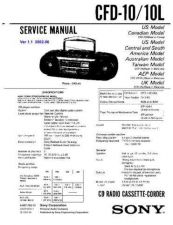 Buy Sony CFD-105L Service Manual by download Mauritron #238674