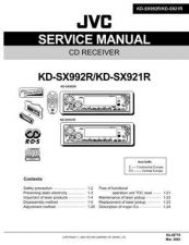 Buy JVC KD-SX992R-KD-SX921R Service Manual Schematic Circuit. by download Mauritron #2716