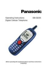 Buy Panasonic EBGD35 Operating Instruction Book by download Mauritron #236005