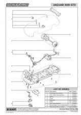 Buy Scalextrix No.440 Jaguar XKR GT3 Service Sheets by download Mauritron #206614
