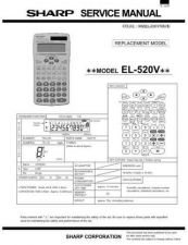Buy Sharp EL546VA Technical Information by download Mauritron #232892