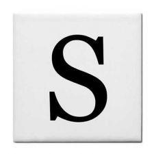 Buy Letter S Alphabet Georgia Font Decorative Ceramic Tile