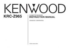 Buy Kenwood KRC-Z965 Operating Guide by download Mauritron #219435