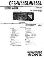 Buy Sony CFS-W445L-W456L--- Service Manual by download Mauritron #239015