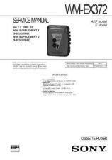 Buy Sony WM-EX372 Service Manual. by download Mauritron #245668