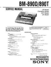 Buy Sony BM-890D-890T Service Manual by download Mauritron #236903
