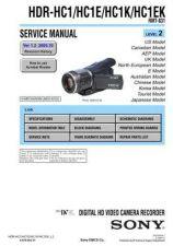 Buy Sony HDR-HC1-HC1E-HC1K-HC1EK-2 Service Manual by download Mauritron #232058