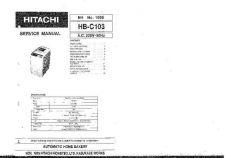 Buy Hitachi HBC103 Service Manual by download Mauritron #262318