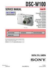 Buy Sony DSC-W100 Service Manual by download Mauritron #240382