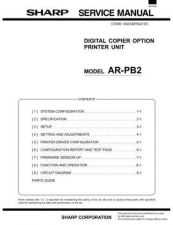 Buy Sharp SHARP AR-PB2 SERVICE & PARTS Service Manual by download Mauritron #210654
