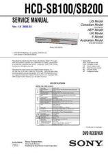 Buy Sony HCD-SB100SB200 Service Manual by download Mauritron #232052