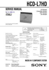Buy Sony HCD-HPZ7-HPZ9 Service Manual by download Mauritron #241193