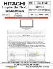 Buy Hitachi RAS18CH1 RAC18CH1 Service Manual by download Mauritron #264032
