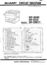Buy Sharp SF2040-D23-DM11 SM DE Service Manual by download Mauritron #210483