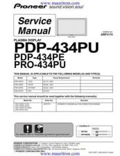 Buy Pioneer PDP-433PU-KUC Service Manual by download Mauritron #234934